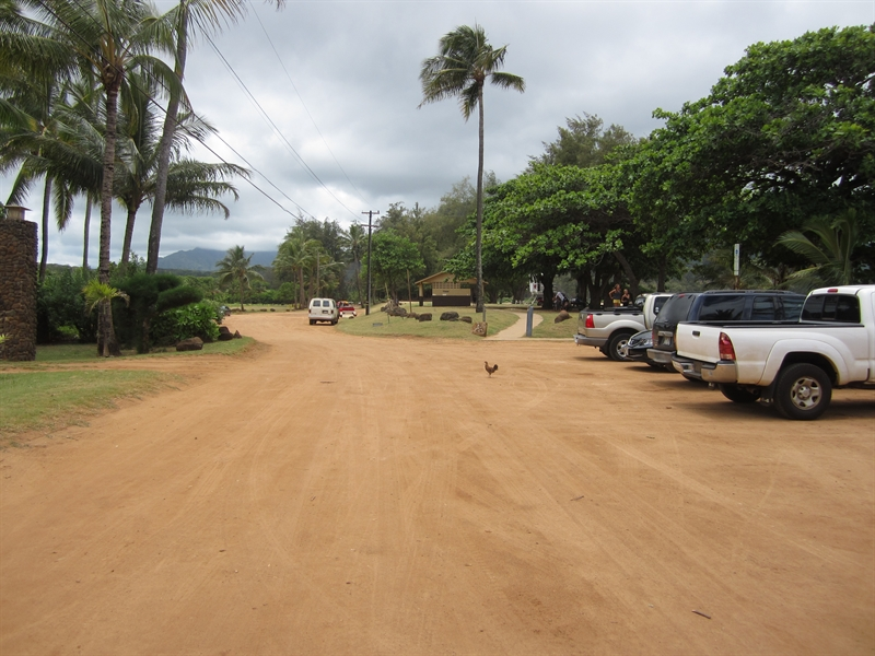 Anahola Beach Parking Lot