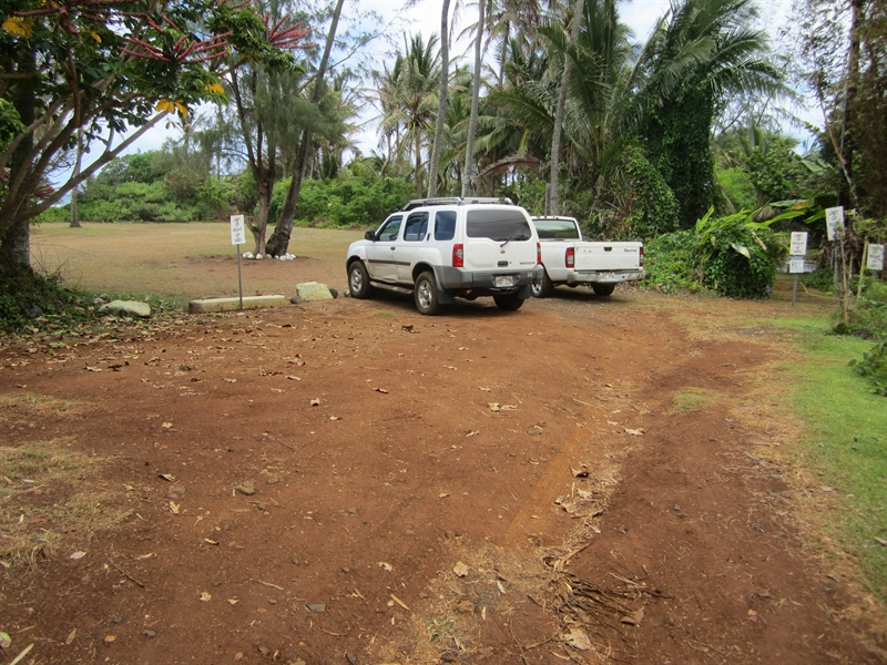 South Aliomanu Beach Parking Area