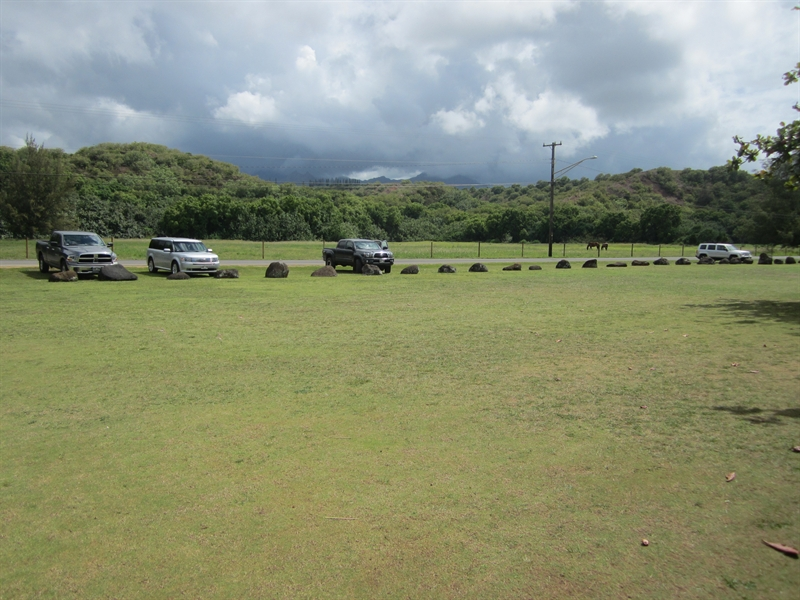 Anini Beach Parking and Grass