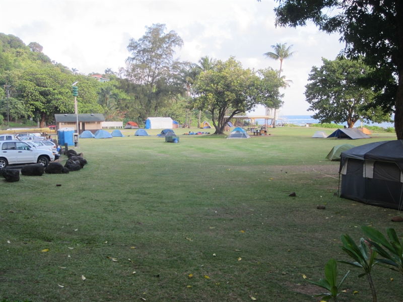 Hanalei bay camping