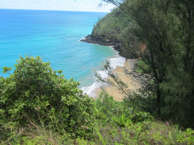 Hanakapiai Beach From the Kalalau Trail